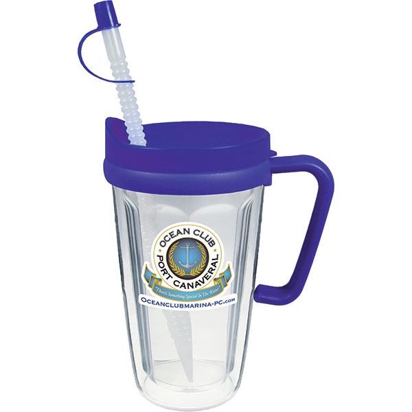 Promotional 16oz Travel Thermal Mug with Lid & Handle