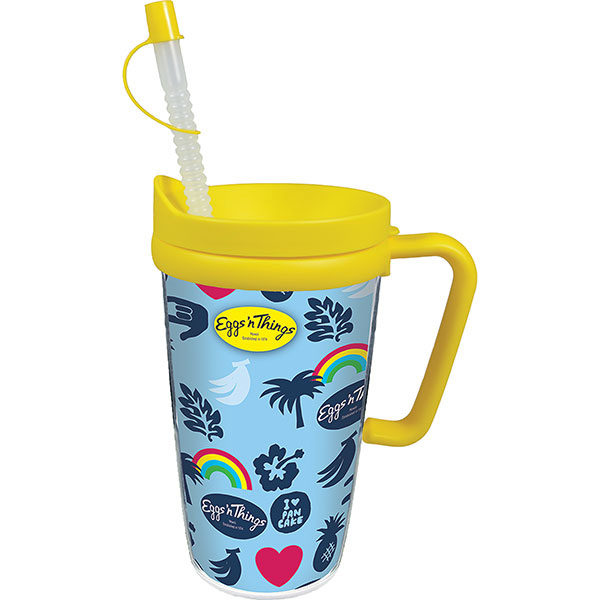 Printed 16oz Thermal Travel Mug with Lid & Handle