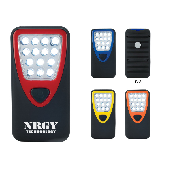 Promotional Rubberized Working Light With Heavy Duty Magnet