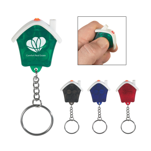 Personalized House Shape LED Key Chain