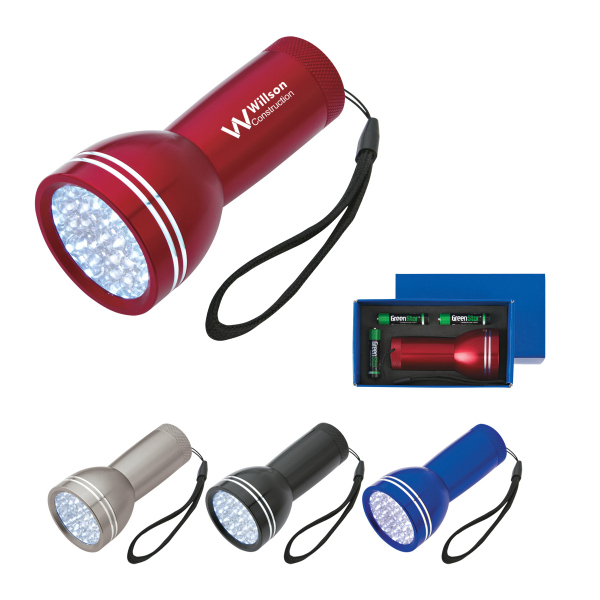 Personalized Mega Bright Aluminum LED Light With Strap