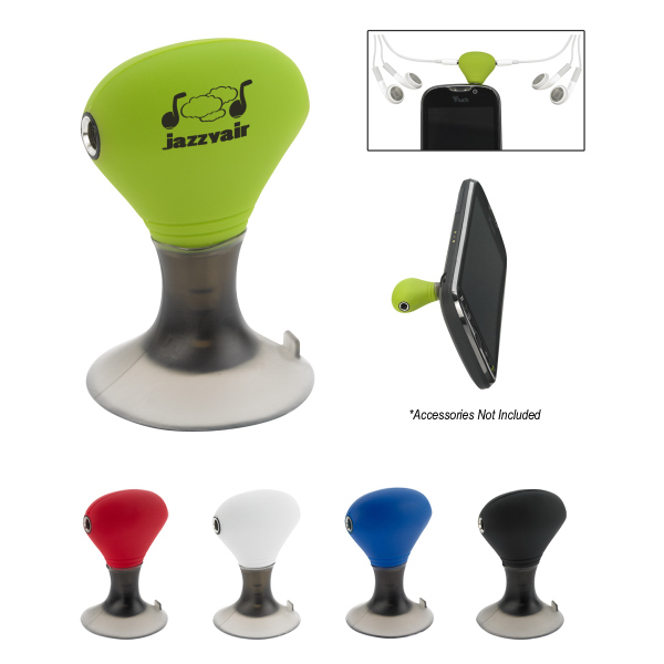 Imprinted Ear Bud Splitter/Phone Stand