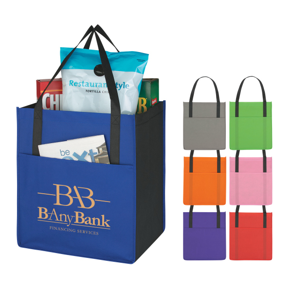 Customized Non-Woven Shopper's Pocket Tote Bag