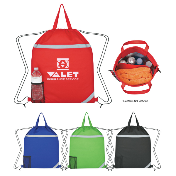 Personalized Reflecto-Insulated Drawstring Backpack