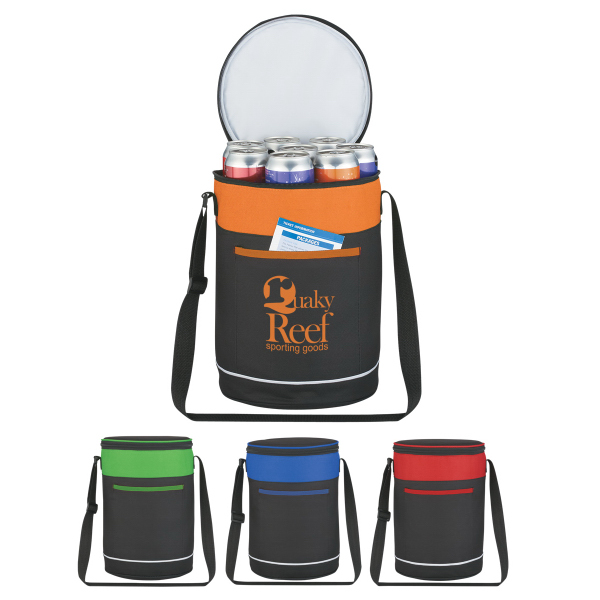 Printed Barrel Buddy Round Kooler Bag