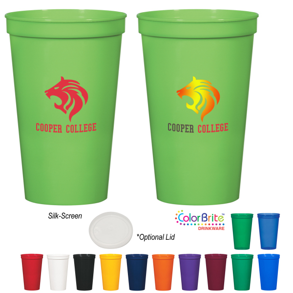 Imprinted 22 oz. Stadium Cup