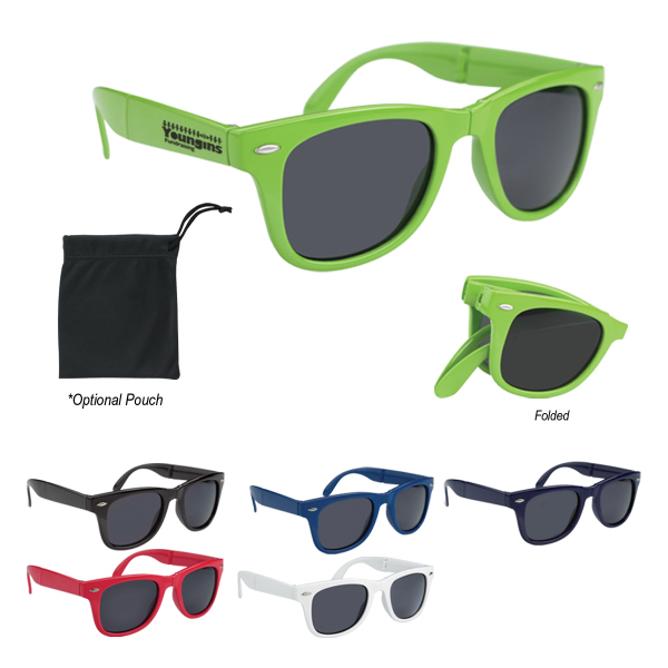Personalized Folding Malibu Sunglasses