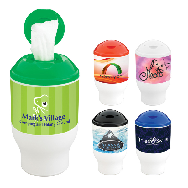 Promotional Wet Wipe Container Cup