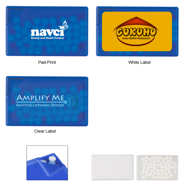 Printed Credit Card Shape Peppermints