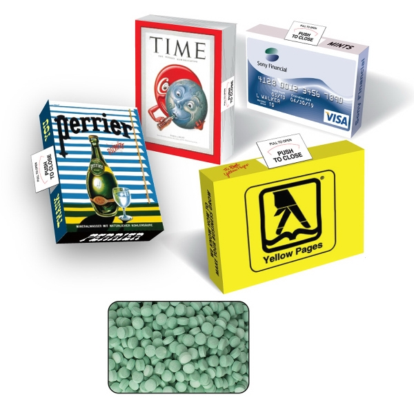 Promotional Advertising Mint/Candy/Gum Box with Spearmint