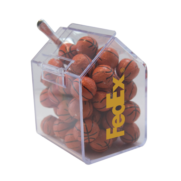Custom Candy Bin with Chocolate Balls - Candy Dispenser