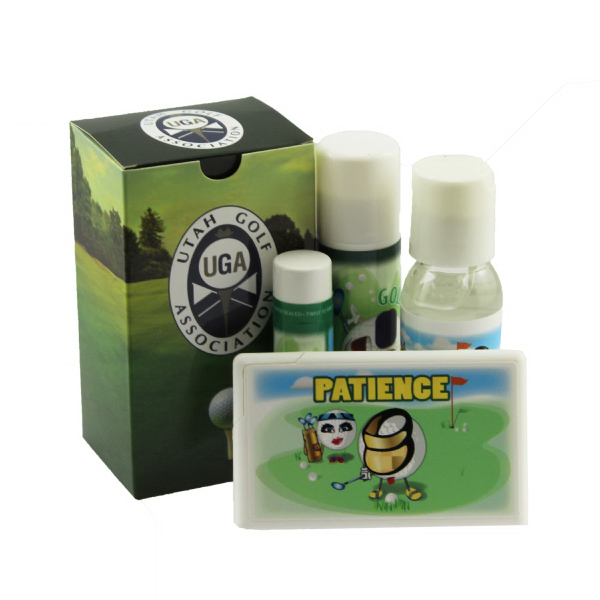 Promotional Golf Kit With Sunscreen, Hand Sanitizer, and Mints