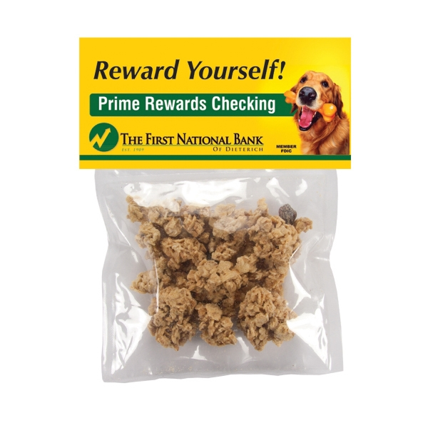 Promotional Large Candy Bag (with Header Card) with Granola