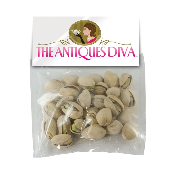 Personalized Large Candy Bag (with Header Card) with Pistachios