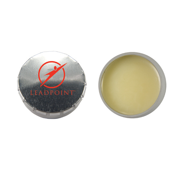 Promotional Lip Balm Snap Top Tin - Silver