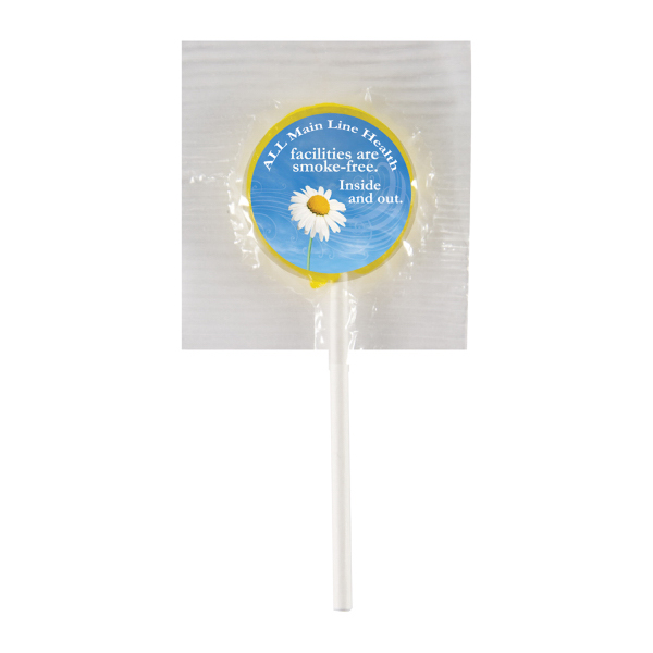 Personalized Lollipop with Round Label