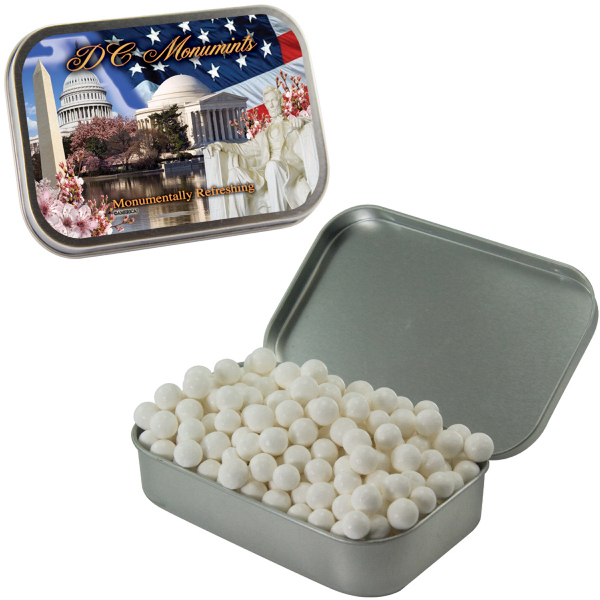 Customized Large Silver Mint Tin with Signature Peppermints