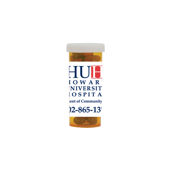 Promotional Mini Pill Bottle with Chocolate Littles