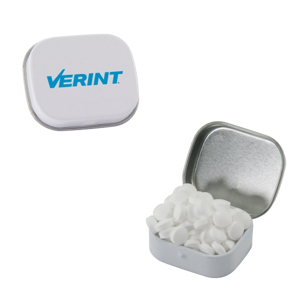 Custom White Mini Mint Tin with Sugar-Free Mints