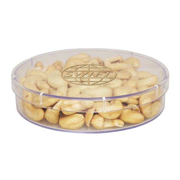 Promotional Large Round Show Piece with Cashews - Nuts - Acrylic