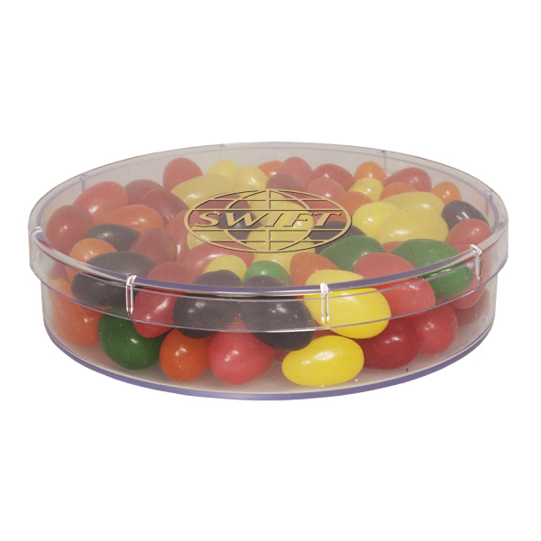 Printed Large Round Show Piece with Jelly Beans - Candy - Acrylic