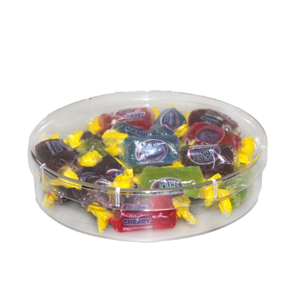 Customized Large Round Show Piece with Jolly Rancher Candy - Acrylic