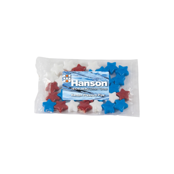 Printed Small Promo Candy Pack with Candy Stars