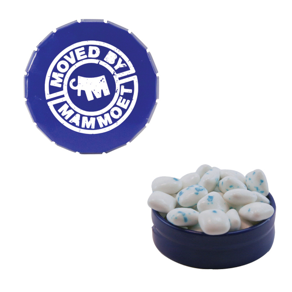 Custom Small Snap Top Mint Tin with Sugar-Free Gum