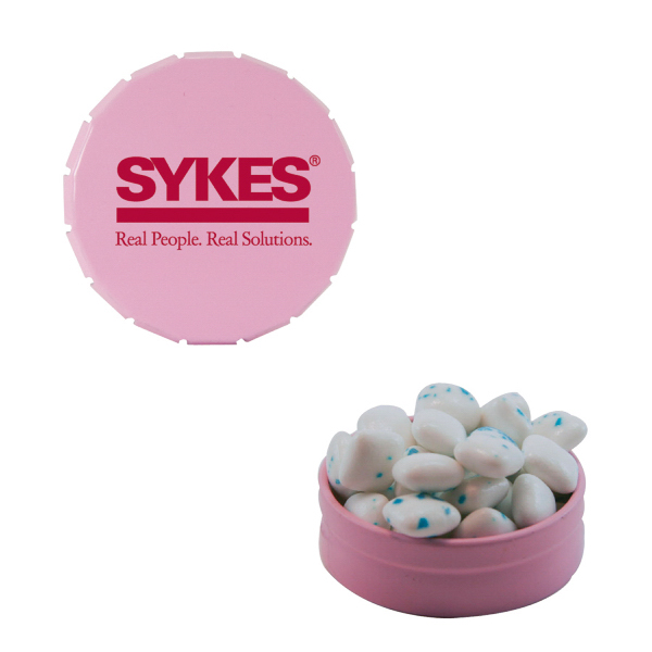 Customized Small Snap Top Mint Tin with Sugar-Free Gum