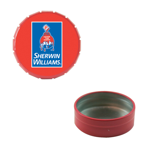 Personalized Small Empty Red Snap-Top Mint Tin