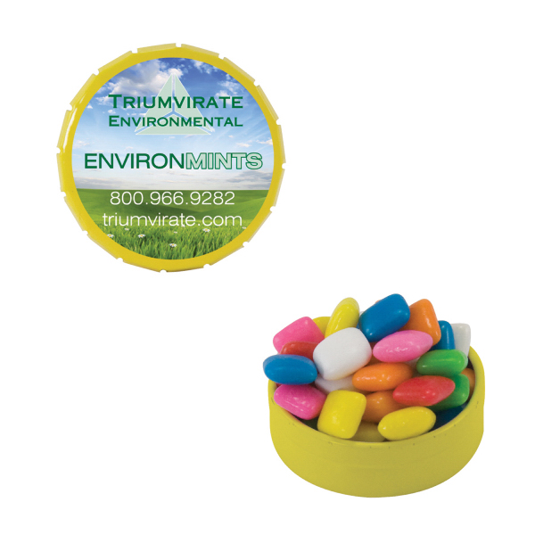 Custom Small Yellow Snap-Top Mint Tin with Gum