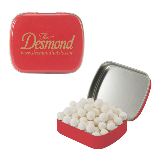 Customized Small Red Mint Tin with Signature Peppermints