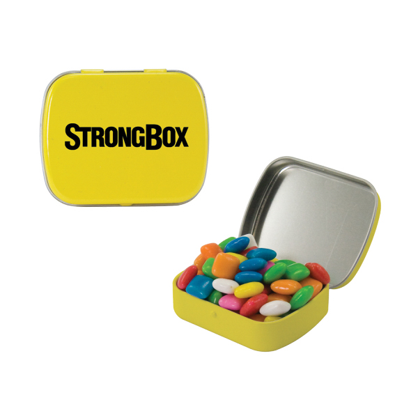Custom Small Yellow Mint Tin with Gum