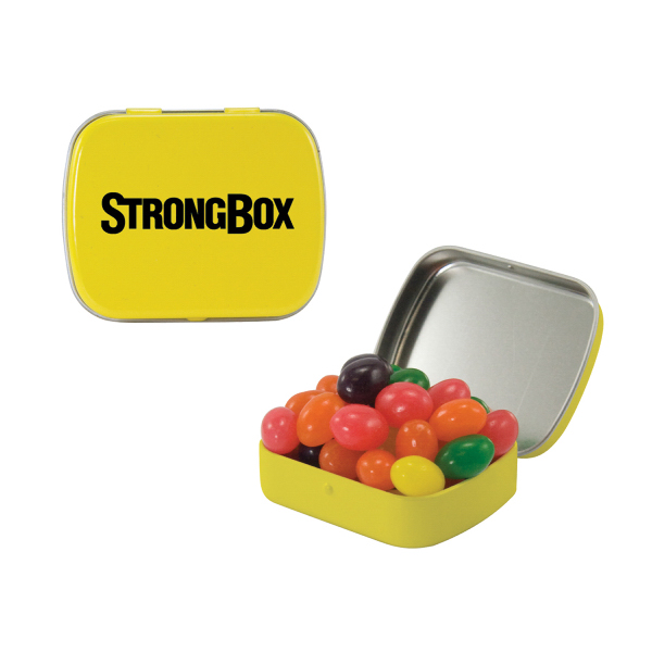 Custom Small Yellow Mint Tin with Jelly Bean