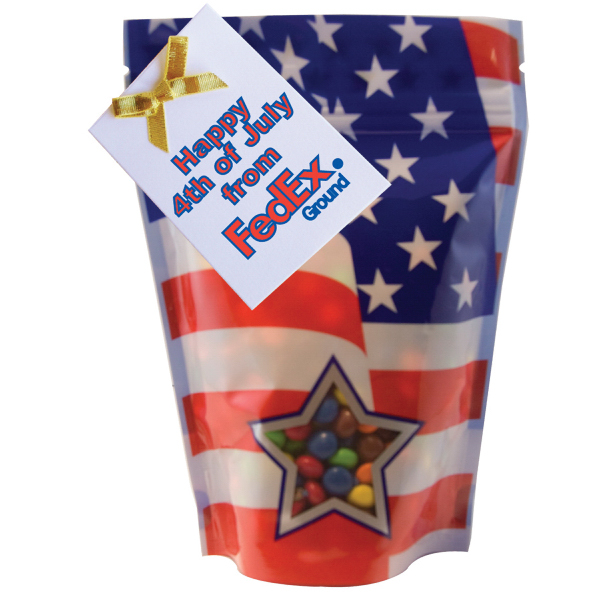 Personalized Patriotic large window bag with Chocolate Littles