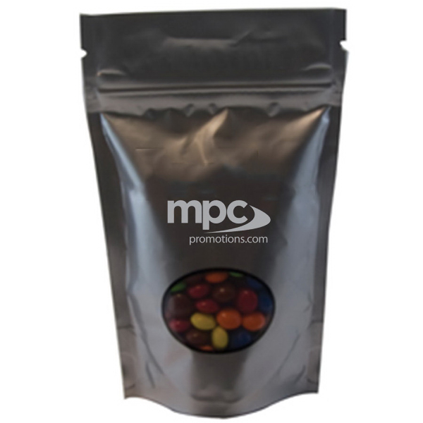 Printed Large Window Bag with Chocolate Little Candy - Silver