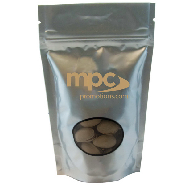Promotional Large Window Bag with Pistachio Nuts - Silver