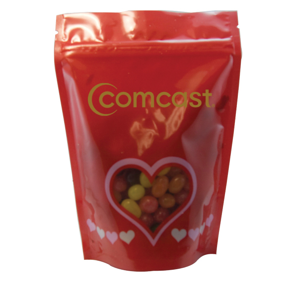 Printed Large Window Bag with Jelly Bean Candy - Valentine