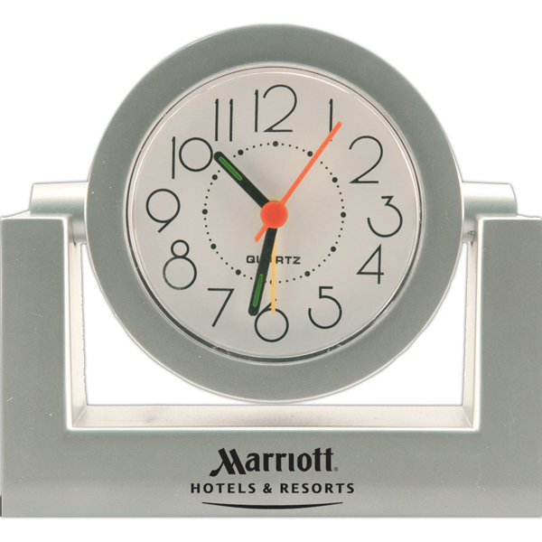 Promotional Gimbal Desk Alarm Clock