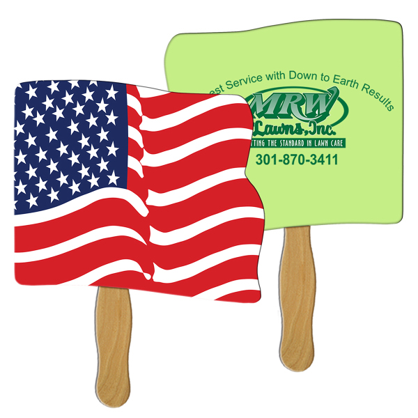 Personalized Flag sandwich fan