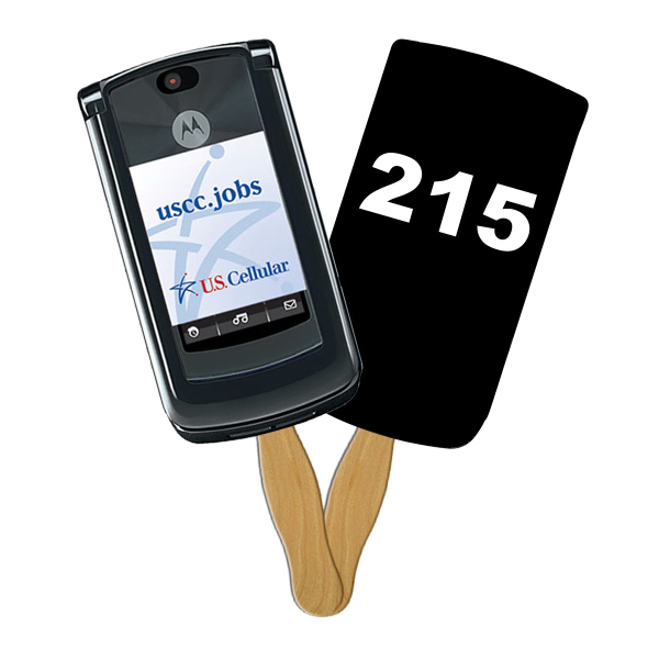Customized Cell Phone Digital auction fans