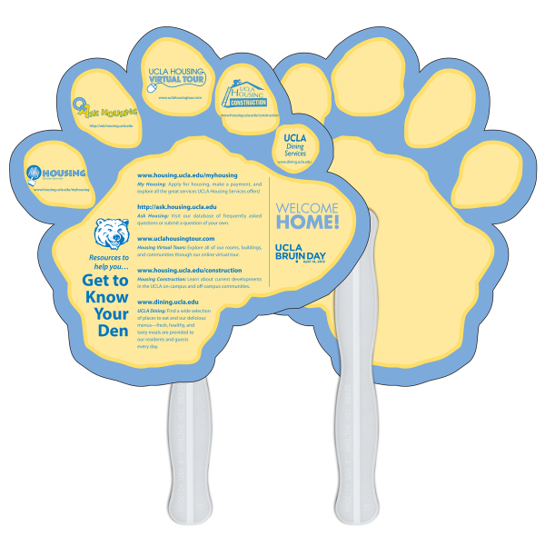 Imprinted Paw print Digital Econo Fan