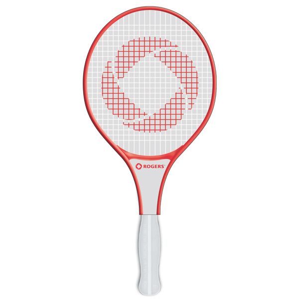 Imprinted Racquet full color fan