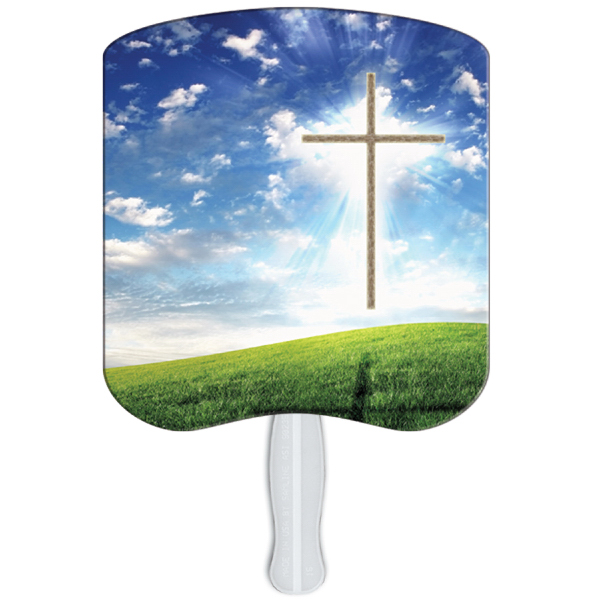 Personalized Cross stock fan