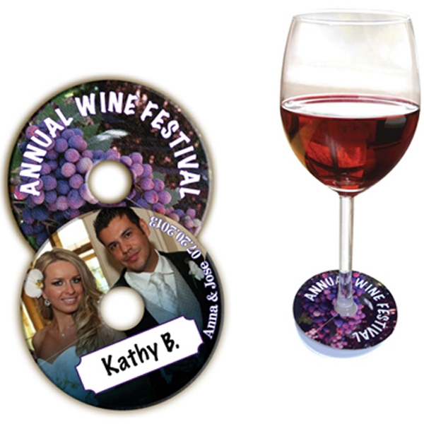 Imprinted Wine Glass Collar