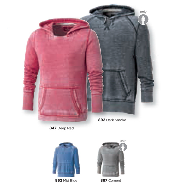 Promotional Lakeview Burnout Fleece kanga Hoody