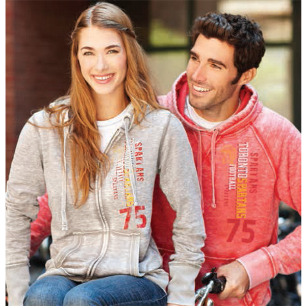 Imprinted Ridgemont Burnout Fleece Full Zip Hoody