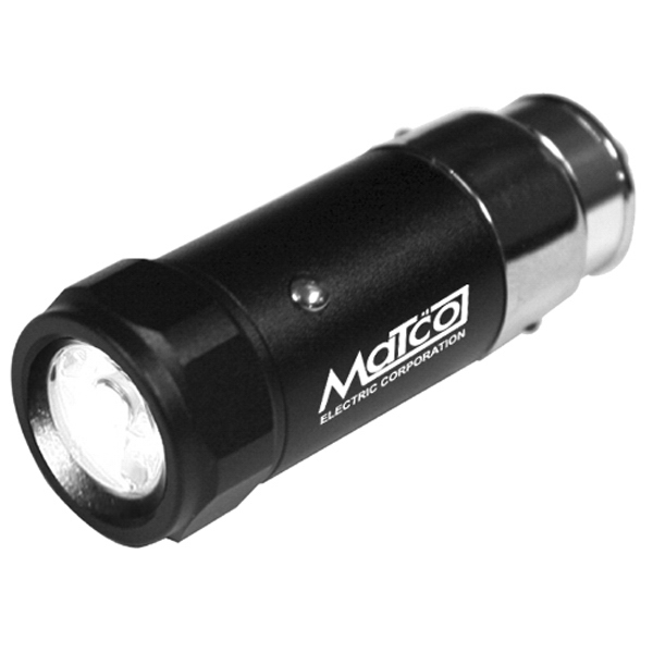 Personalized Rechargeable LED Auto-Plug Flashlight with Aluminum Housing