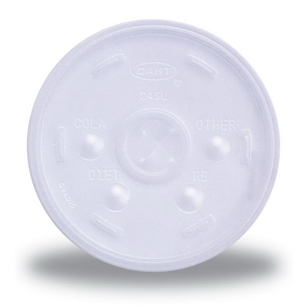 Promotional Foam Cup Straw Slotted Lid
