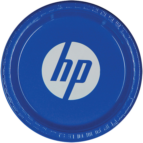 "Printed 7"" Color Plastic Plate"